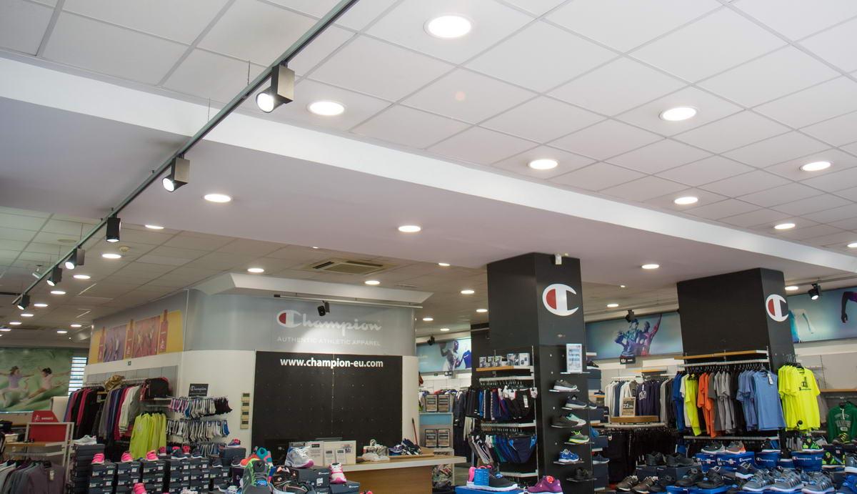 Φωτισμός LED – Κατάστημα CHAMPION (Αχαρνών) OMNIENERGY
